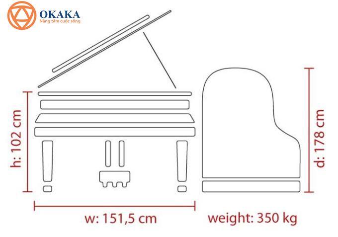 OKAKA Music cung cấp cho bạn vài thông tin bổ ích về kích thước đàn piano với hy vọng bạn sẽ chọn được loại phù hợp nhất cho không gian...