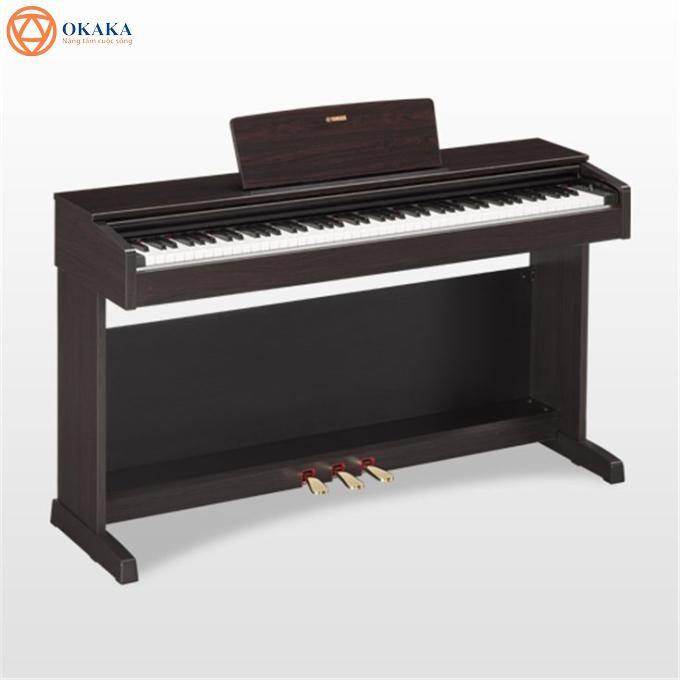 Đàn piano điện Yamaha YDP-143 là một trong 3 dòng đàn piano điện góp phần tạo nên di sản đàn piano Yamaha lâu đời với công nghệ kỹ thuật số mới nhất, YDP-143 tích hợp hàng loạt âm thanh phong phú và cảm giác bàn phím cực nhạy nắm bắt được cái hồn của màn trình diễn trên cây grand piano tốt nhất thế giới Yamaha CF 3s.