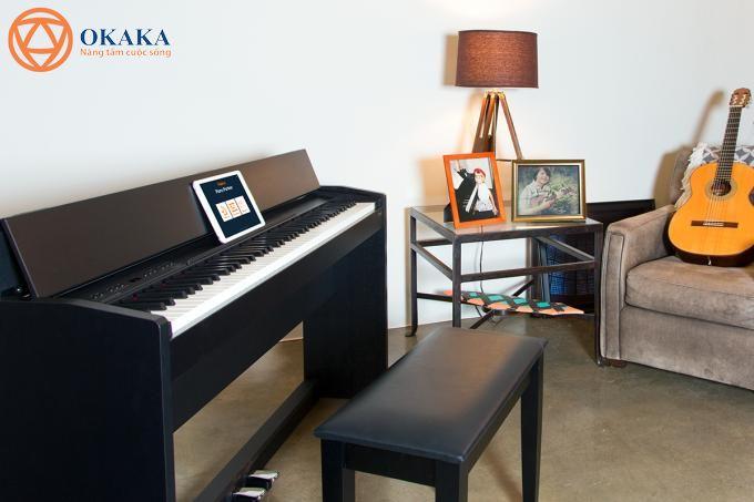 """Công bằng mà nói, đàn piano điện Yamaha YDP-163 đã có một bước tiến tốt hơn so với """"model tiền nhiệm"""" YDP-162 ở nhiều mặt."""