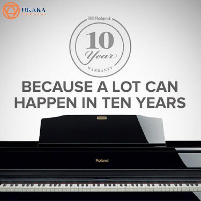Roland nổi tiếng là 1 trong 4 hãng đàn piano điện uy tín chất lượng trên thế giới, và tin vui cho bạn là có rất nhiều model đàn piano điện Roland được bảo hành lên đến 10 năm!