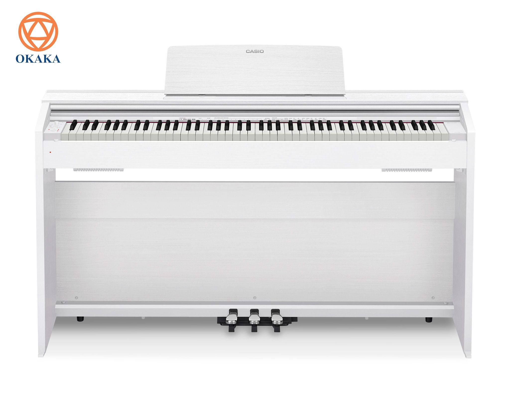 """Casio PX-870 là sản phẩm hàng đầu của dòng đàn Privia nổi tiếng thế giới, được thiết kế để mang đến cho bạn trải nghiệm chơi piano tuyệt vời. Với âm thanh và cảm giác piano chân thực, thiết kế hiện đại và hệ thống loa kiểu mới, đàn piano điện Casio Privia PX-870 ra mắt năm 2017 là nhạc cụ """"5 tốt"""" tuyệt vời để tạo cảm hứng cho các màn trình diễn vượt trội."""