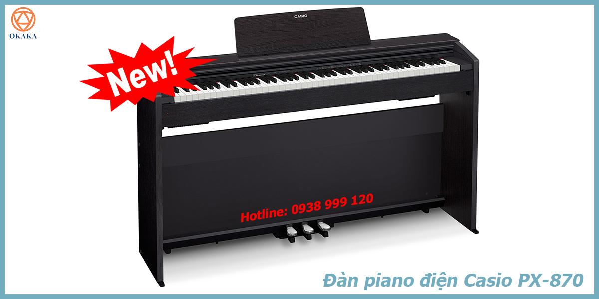 Đơn giản là đàn piano điện Casio PX-870 có rất nhiều ưu điểm vượt trội mà bạn không thể tìm thấy ở model PX-860!