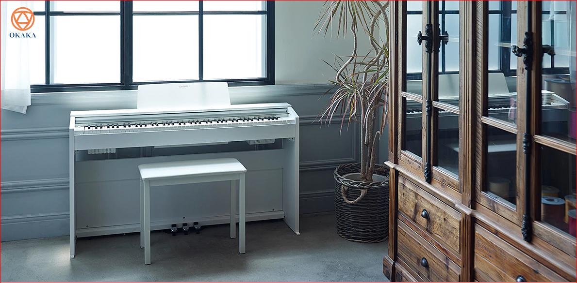 Dù có nhiều model đàn piano điện chất lượng cao tương tự ở tầm giá thấp, bạn có thể cân nhắc đến Privia PX-870 – model mới ra mắt năm 2017 của Casio thay thế model cũ PX-860. Hãy dành thời gian đọc đánh giá đàn piano điện Casio PX-870 dưới đây rồi quyết định cũng chưa muộn bạn nhé!