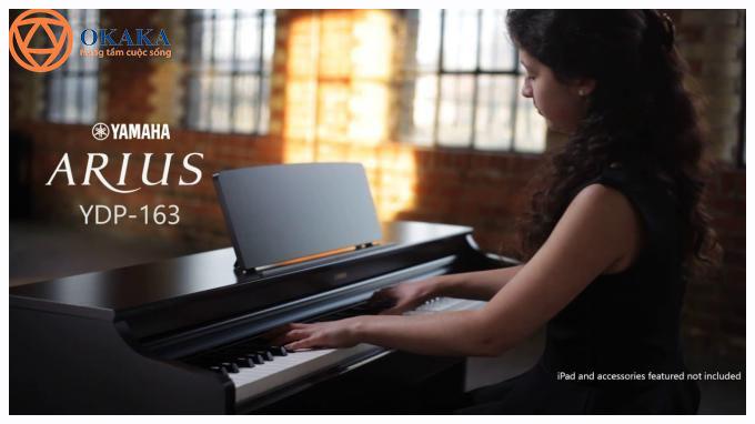 """Nhiều khách hàng tâm sự với OKAKA rằng họ rất thích, rất ấn tượng và rất """"bồ kết"""" model đàn piano điện cao cấp Yamaha YDP-163 nhưng không đủ ngân sách để mua. Có lẽ họ không biết OKAKA đang có chương trình ưu đãi giá đàn piano điện Yamaha YDP-163 giúp họ sớm sở hữu cây đàn piano điện tuyệt vời trong dòng Arius này với giá """"thật khó tin""""!"""