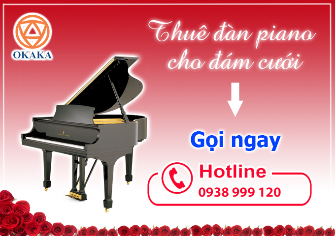 """Càng cận ngày thì càng quýnh quáng. Cầm trên tay danh sách việc phải làm để chuẩn bị cho đám cưới tươm tất, hẳn bạn đã thấy choáng ngợp. Thêm việc thuê đàn piano thì lo thật lo, nhưng """"thích thì nhích"""" thôi! Rầu cái là chẳng biết giá thuê đàn piano cho đám cưới là bao nhiêu và thuê đàn piano cho đám cưới ở đâu để vừa tiết kiệm chi phí vừa có buổi tiệc đáng nhớ bây giờ?"""
