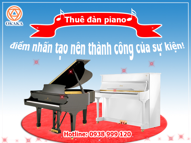 Piano là sự bổ sung tuyệt vời cho bất kỳ sự kiện nào. Và có một sự thật khó tin là thuê đàn piano có thể làm cho sự kiện của bạn thành công hơn đấy! Vì sao ư? Đọc bài viết dưới đây rồi bạn sẽ rõ!