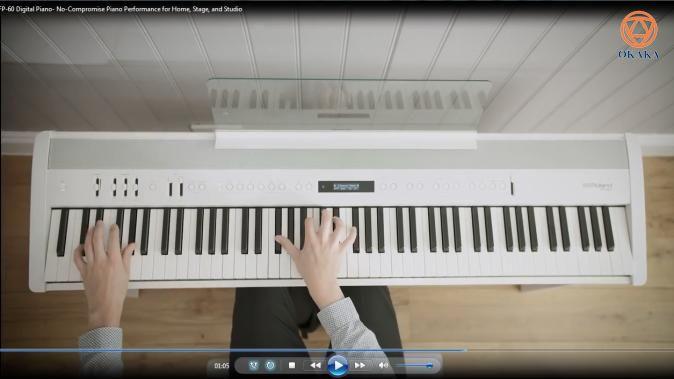 Nếu bạn cần một cây đàn piano có chất lượng cho gia đình, lớp học hoặc trình diễn nhạc sống, đàn piano điện Roland FP-60 là một lựa chọn tuyệt vời. Cây piano điện xách tay này cung cấp âm thanh và độ nhạy phím vượt trội trong một kiểu dáng đẹp, thời trang, lại rất dễ vận chuyển.