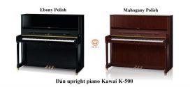 So sánh đàn upright piano Kawai K-300 và K-500