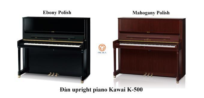 Ở đây chúng ta sẽ xem xét kỹ hơn 2 cây đàn upright piano Kawai K-300 và K-500. Cả hai đều được ra mắt vào năm 2014 và điều chắc chắn là chất lượng của 2 model đều đáp ứng tiêu chuẩn cao của dòng K-series.