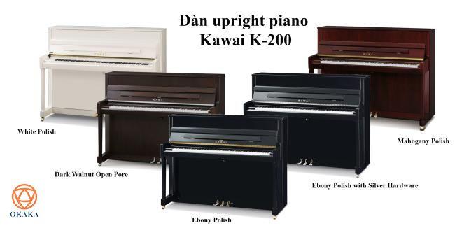 Với âm sắc và độ nhạy phím nổi bật trong một cây đàn có chiều cao 114 cm, đàn upright piano Kawai K-200 mang lại cảm giác tin cậy và nét đặc sắc cần thiết để làm hài lòng bất kỳ người chơi piano nào, từ những người tập đàn chân ướt chân ráo cho đến các nhạc công chuyên nghiệp.