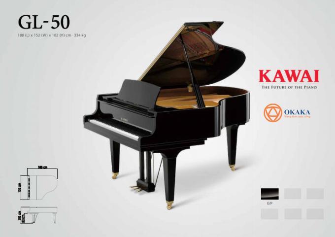 Là lựa chọn yêu thích của các nhà giáo dục, đàn piano cơ Kawai GL-50 là nhạc cụ đa năng dễ dàng đáp ứng nhu cầu âm nhạc ở các lớp học, các studio và những địa điểm biểu diễn nhỏ hơn.