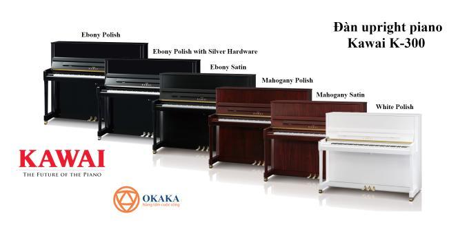"""Đàn upright piano Kawai K-300 được chế tạo dựa trên thành công của cây đàn K-3 thế hệ trước từng được vinh dự nhận giải thưởng """"Đàn piano cơ của năm"""" trong 4 năm liên tiếp. K-300 tự hào kế thừa di sản vẻ vang này."""