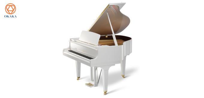 """Là cây """"baby grand"""" cổ điển với chiều dài 153cm, đàn piano Kawai GL-10 thể hiện tay nghề khéo léo cùng sự chăm chút tỉ mỉ của các nghệ nhân chế tạo đàn piano cơ Kawai, hứa hẹn sẽ làm hài lòng cả những người chơi khó tính nhất."""