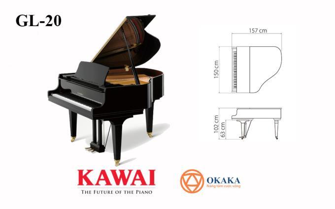 Hội tụ nhiều tính năng tiên tiến của dòng đàn GL-series nhưng lại không chiếm quá nhiều diện tích, đàn piano Kawai GL-20 với chiều dài 157cm chắc chắn sẽ mang đến màn trình diễn tối ưu cho người chơi ở mọi cấp độ.