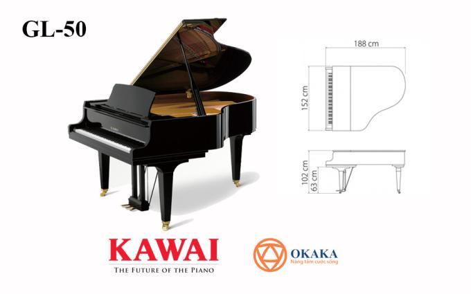 Cùng với khả năng đáp ứng nhu cầu của các lớp học nhạc, studio và các địa điểm biểu diễn, đàn piano Kawai GL-50 với chiều dài 188cm luôn là lựa chọn tốt nhất và được yêu thích nhất.
