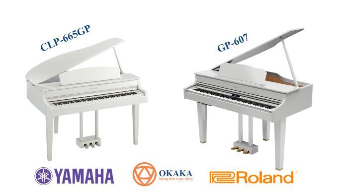 Hẳn bạn rất muốn biết sự khác biệt và tương đồng giữa 2 cây đàn piano điện kiểu dáng grand phổ biến trên thị trường hiện nay – CLP-665GP của Yamaha và GP-607 của Roland. Cả hai cây đàn piano điện này nằm ở mức giá dao động trên dưới 100 triệu đồng và đều được thiết kế theo kiểu dáng grand piano. Bài viết này sẽ tiến hành so sánh đàn piano điện Yamaha CLP-665GP và Roland GP-607 để bạn dễ dàng chọn lựa.