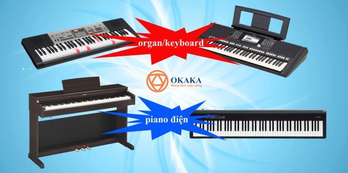 Không ít khách hàng hỏi OKAKA về sự khác nhau giữa đàn piano điện và đàn organ/ keyboard. Câu trả lời thực sự đơn giản nhưng hẳn nhiều người sẽ thấy khó hiểu. Cả hai đều là những nhạc cụ thú vị để chơi nhưng có một số khác biệt đáng chú ý.