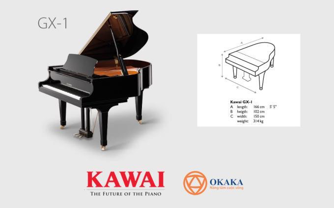 So với những cây grand piano khác có cùng kích thước, đàn piano Kawai GX-1 mang đến cho nghệ sĩ dương cầm chuyên nghiệp một phạm vi biểu cảm âm thanh tuyệt vời cùng kiểu dáng sang trọng vượt trội.