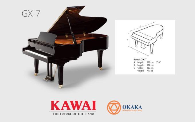 Được làm thủ công từ những vật liệu tái tạo quý giá, đàn piano Kawai GX-7 phiên bản giới hạn cung cấp độ nhạy phím vô song cùng âm thanh và biểu cảm trên cả tuyệt vời.