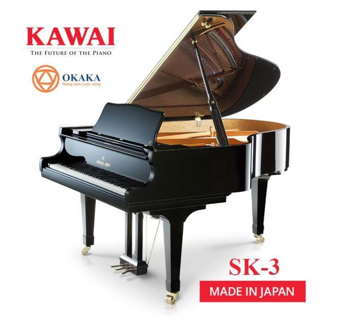 Trong dòng SK-series, đàn piano Shigeru Kawai SK-3 có chất lượng âm thanh phong phú, mang đến màn trình diễn tuyệt vời cho bất kỳ ngôi nhà, sảnh đường, nhà hát hay nhà thờ nào. Âm vực sống động tuyệt vời của SK-3 cũng rất thích hợp để phục vụ việc giảng dạy ở trình độ cao cấp và trình diễn trong phòng thu.