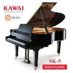 Đàn piano Shigeru Kawai SK-5 là model tầm trung trong dòng SK-series cung cấp âm thanh chất lượng cao cho những không gian biểu diễn lớn. Được chế tạo theo quy trình nghiêm ngặt giống như những model khác trong dòng SK-series, SK-5 hứa hẹn sẽ mang đến màn trình diễn trên cả tuyệt vời.