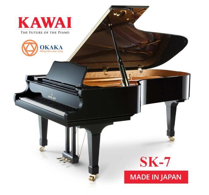 Đàn piano Shigeru Kawai SK-7 là model có kích thước gần với cây grand piano dành cho hòa nhạc SK-EX nhất. Với chất lượng âm thanh và độ nhạy phím hàng đầu, SK-7 cho phép người chơi tự tin biểu diễn trên sân khấu lớn lẫn trong phòng thu.