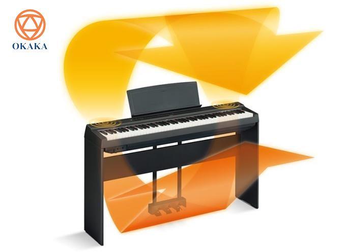 Kết hợp màn trình diễn đáng kinh ngạc với thiết kế tối giản thân thiện với người dùng, giờ đây bạn có thể tận hưởng độ nhạy phím và âm thanh tự nhiên của đàn piano cơ trong một cây đàn piano điện xách tay nhỏ gọn như đàn piano điện Yamaha P-125.