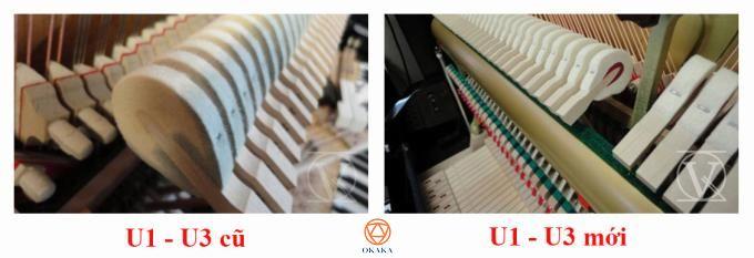Những model cũ (trước năm 2002) vẫn được gọi là Yamaha U1 hoặc U3 nhưng ngoài tên model ra, thiết kế của nhiều bộ phận được sử dụng trong các model hiện tại khá khác với các model cũ. Hãy cùng OKAKA điểm danh xem đàn piano Yamaha U1 - U3 cũ có gì khác Yamaha U1 - U3 mới nhé!