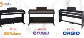 So sánh đàn piano điện Yamaha YDP-103 và Roland RP-102, Casio PX-770