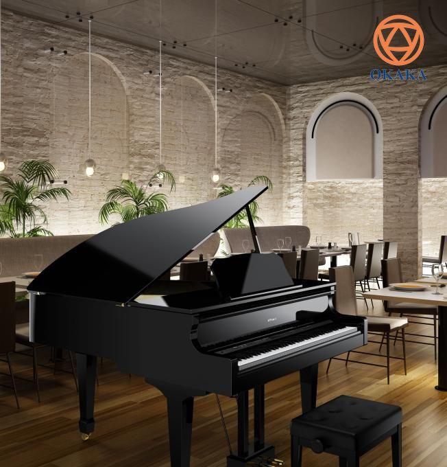 Nếu bạn cần thuyết phục rằng công nghệ và truyền thống có thể cùng tồn tại, hãy ngồi chơi tại đàn piano điện Roland GP-609. Nhạc cụ sang trọng này mang đến cho người chơi trải nghiệm tuyệt vời của một cây grand piano, kết hợp công nghệ tiên tiến và cảm giác chơi chân thực với thiết kế tủ đàn grand piano cổ điển.