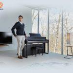 Lấy cảm hứng từ kiểu dáng tủ đàn thanh lịch của những cây đàn piano truyền thống với thiết kế hiện đại, dòng đàn piano điện Roland HP 700-series mang đến sự tinh tế cho bất kỳ ngôi nhà hay không gian trang trí nào.