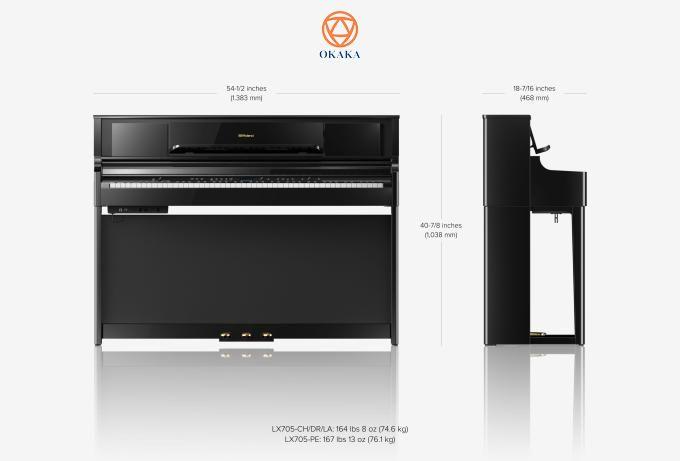 Trong khi những nghệ sĩ piano khó tính nhất tập trung vào 2 model LX-708 và LX-706, các nghệ sĩ có ngân sách hạn hẹp hơn sẽ bị ấn tượng bởi đàn piano điện Roland LX-705, model vẫn giữ được nhiều tính năng nổi bật tương tự trong một tủ đàn có giá cạnh tranh.