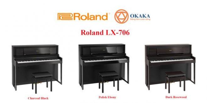 Đàn piano điện Roland LX-706 cho màn trình diễn thêm phần chuyên nghiệp
