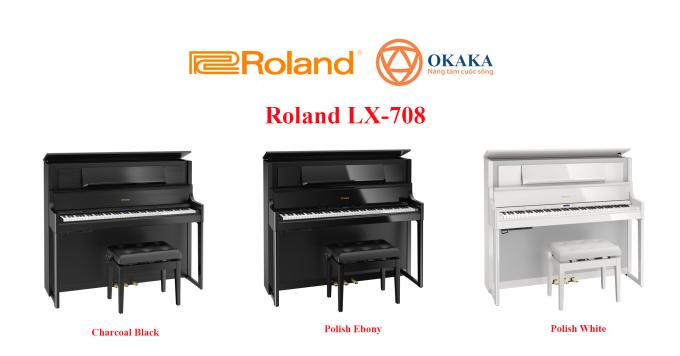 Với thiết kế mẫu mực được nhận Giải thưởng Thiết kế Tốt 2018 (Good Design Award) của Viện Thiết kế và Xúc tiến Nhật Bản, đàn piano điện Roland LX-708 là lựa chọn tối ưu thể hiện đẳng cấp của những người chơi sành điệu!