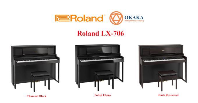 """Đàn piano điện Roland LX-706 là model tiếp theo trong dòng LX-700 series, thay thế cho model LX-7 trước đây đã ngừng sản xuất. Vậy thì so với """"người em"""" LX-705, cây đàn piano điện gia đình này có điểm gì vượt trội hơn?"""