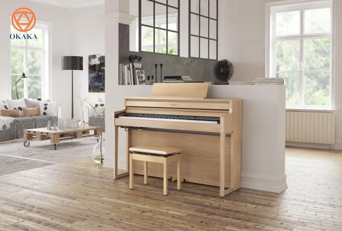 Đàn piano điện Roland HP-704 mới ra mắt hứa hẹn sẽ là model đàn piano điện gia đình hot nhất thị trường nhạc cụ Việt Nam và thế giới năm 2020 nhờ thiết kế hiện đại, âm thanh chân thực và nhiều tính năng thú vị đang chờ được khám phá.
