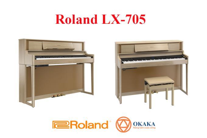 Là model nhỏ gọn nhất dòng LX-700 series, đàn piano điện Roland LX-705 mang đến cho bạn màn trình diễn tuyệt vời của một cây đại dương cầm tại nhà nhờ âm thanh piano chân thực cùng các tính năng hấp dẫn, cổng kết nối Bluetooth, hệ thống 4 loa và bàn phím PHA-50 nhạy cho phép các đầu ngón tay của bạn lướt sóng.