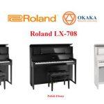 Là model hàng đầu của dòng LX-700 series, đàn piano điện Roland LX-708 tái tạo trải nghiệm tuyệt vời khi chơi trên một cây đại dương cầm truyền thống nhờ thiết kế tủ đàn cao hơn và nắp đàn có thể mở ra đi kèm bàn phím Hybrid Grand cùng hệ thống 8 loa cao cấp.